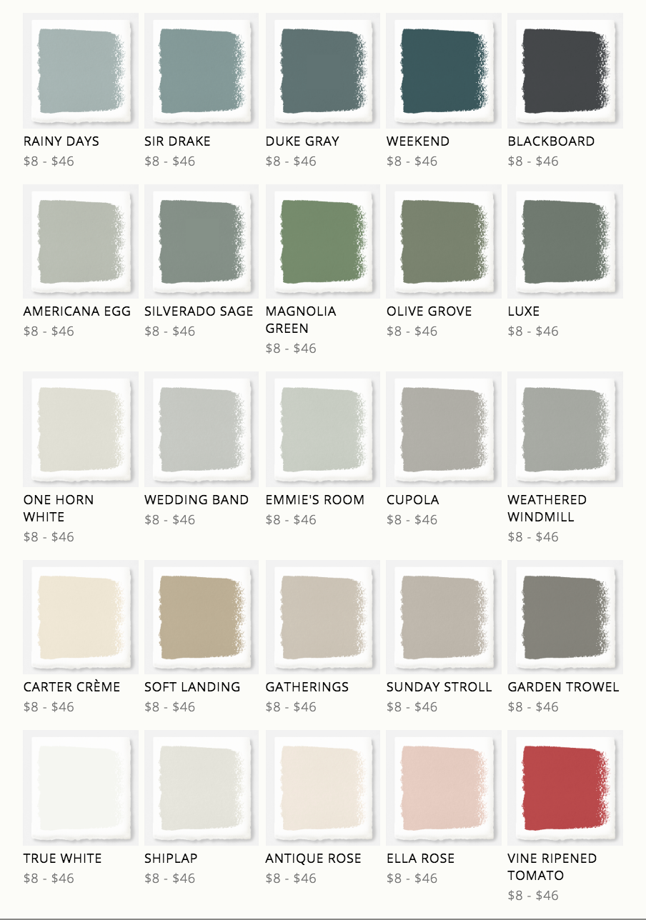 Kilz Paint Colors Joanna Gaines