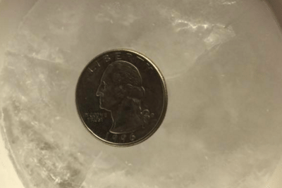 quarter cup of ice